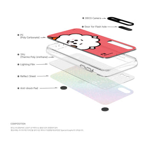 [BT21] SNEAK PEEK GRAPHIC LIGHT UP CASE (HYBRID) FOR IPHONE