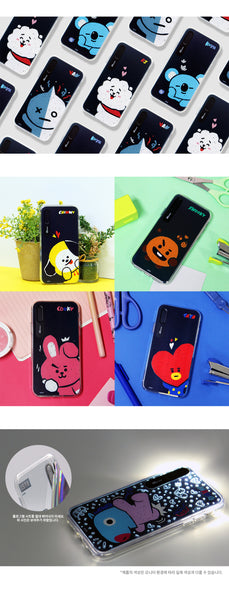 [BT21] PRESS ME GRAPHIC LIGHT UP CASE (HYBRID) FOR IPHONE