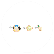 Load image into Gallery viewer, [OST X BT21] Official Surgical Steel Piercings (3 ea)