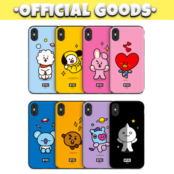 [BT21] Card + Mirror Guard Up Case For iPhone and Samsung