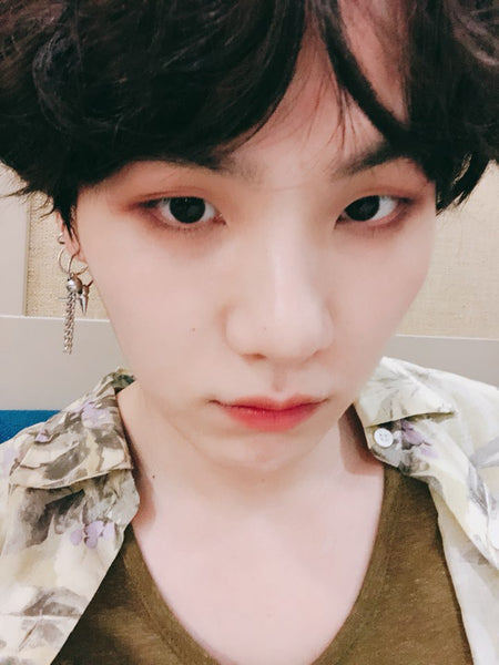 [BTS] Yoongi Earrings (Pair)