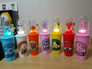 [BT21] Limited Tumbler Bottle + Mood light + Stamp (Free Shipping)