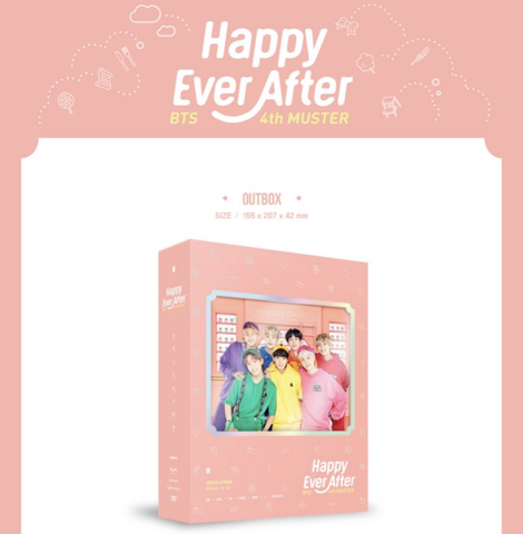 BTS 4th Muster Happy Ever After DVD/BLU-RAY (Free Shipping)