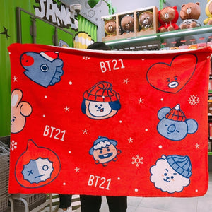 [BT21] LIMITED Christmas Blanket Winter Collection