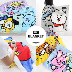 BT21 Official Flannel Fleece Blanket