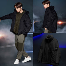 Load image into Gallery viewer, [FILA X BTS] Project 7: Short Padded Jacket (Black)