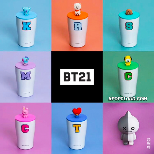 BT21 Official Figure Stainless Cup