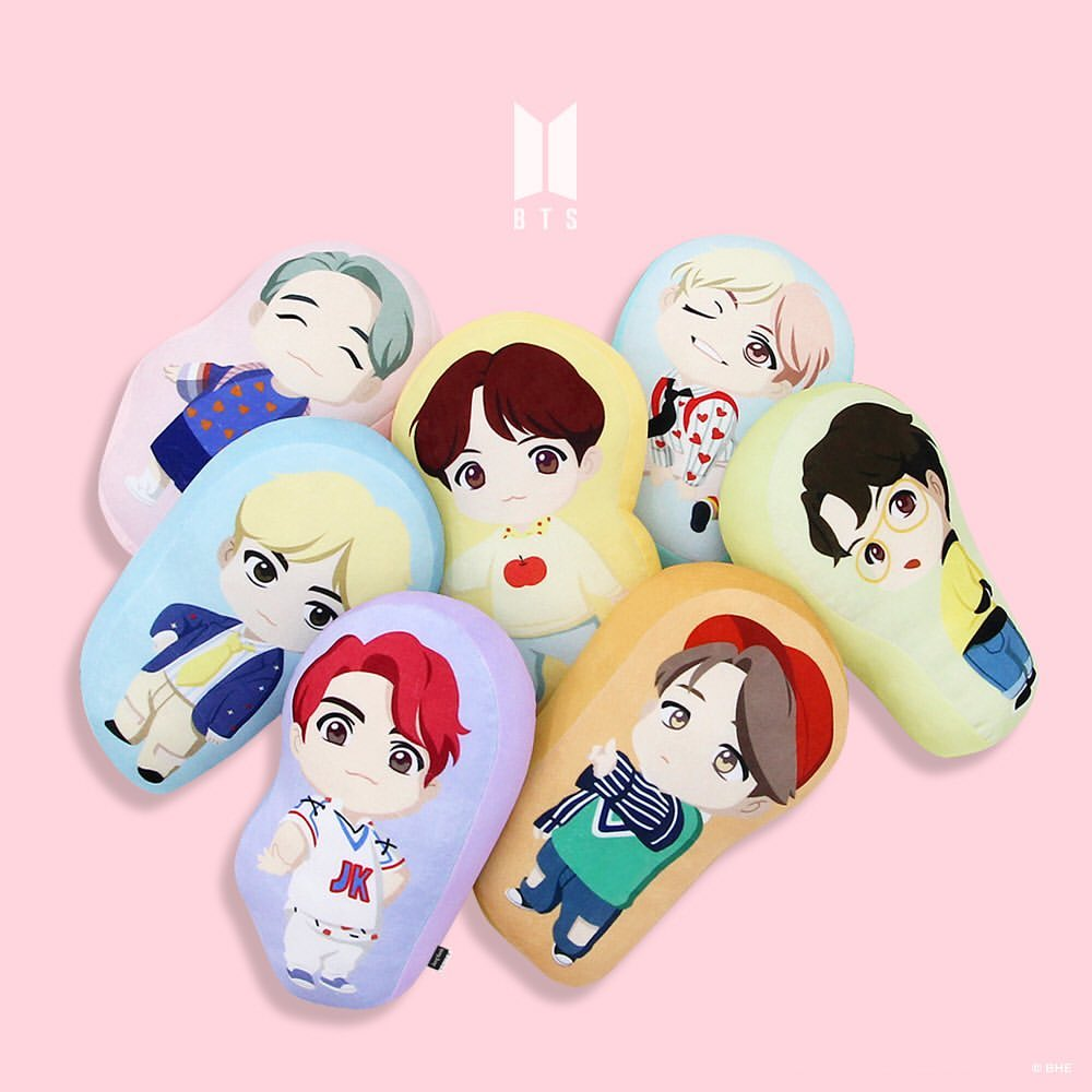 OFFICIAL HOUSE OF BTS SEOUL MD – CHARACTER SOFT CUSHION