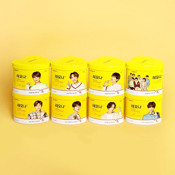 BTS LEMONA Package Vitamin Heart Shape Can (60 Sticks)