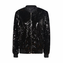 Load image into Gallery viewer, [AsianFashion] Sequin Bomber Jacket
