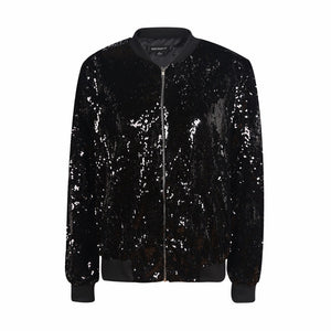 [AsianFashion] Sequin Bomber Jacket