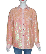 Load image into Gallery viewer, [BTS] Jin ''Pink Sequin'' Long Sleeve Shirt