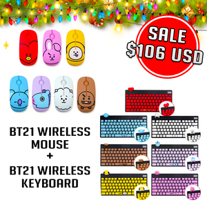 [Sale] BT21 Wireless Mouse and BT21 Wireless Keyboard