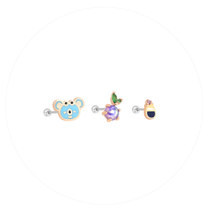[OST X BT21] Official Surgical Steel Piercings (3 ea)