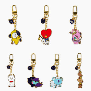 BT21 Official Metal Keyring Universtar Ver.