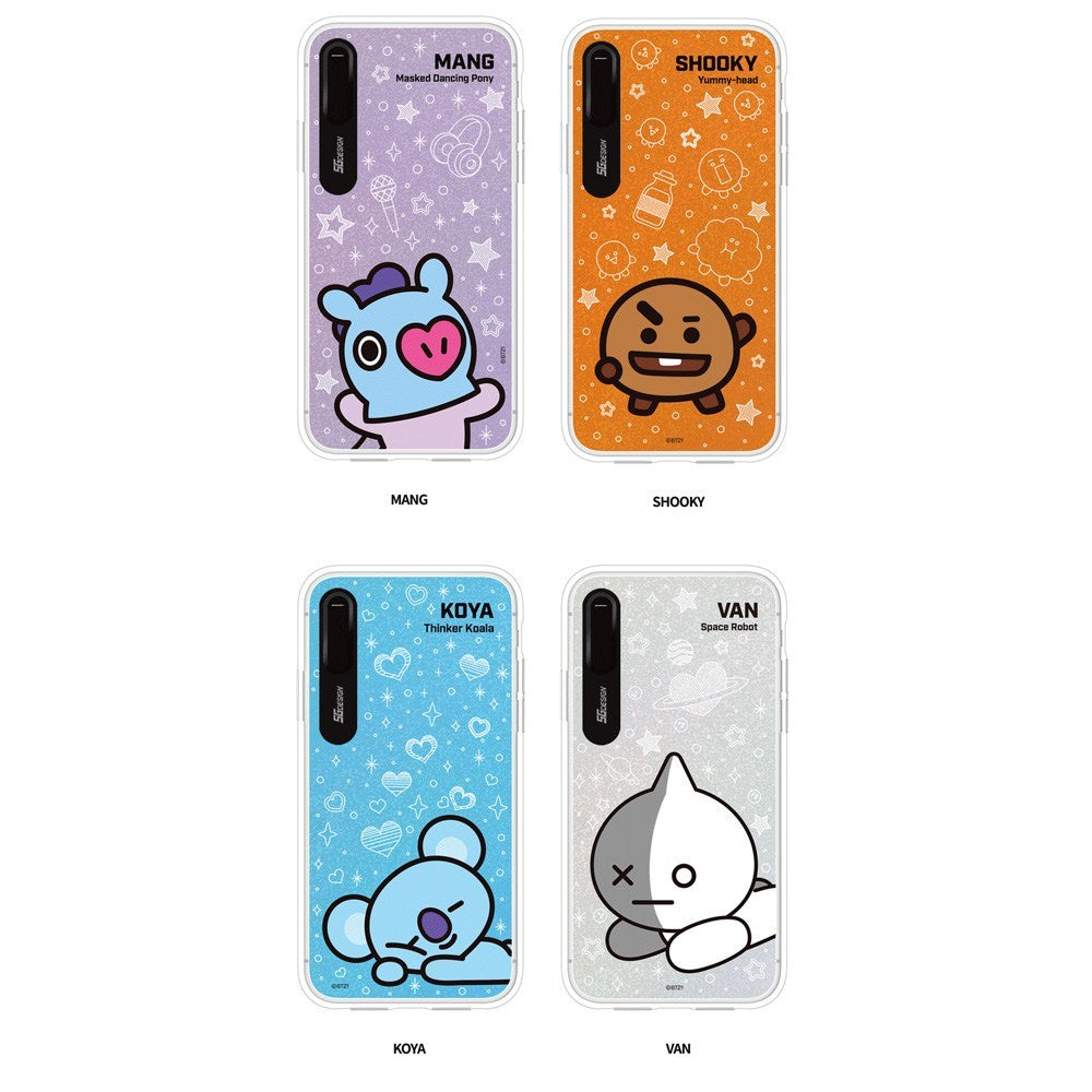 brand new 62ebc de766 [BT21] BASIC GRAPHIC LIGHT UP CASE (HYBRID) FOR IPHONE