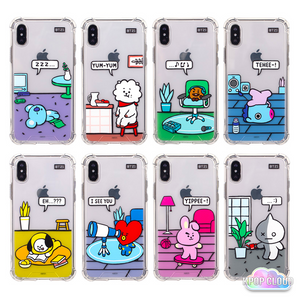BT21 Official Clear Roomies Bumper Case