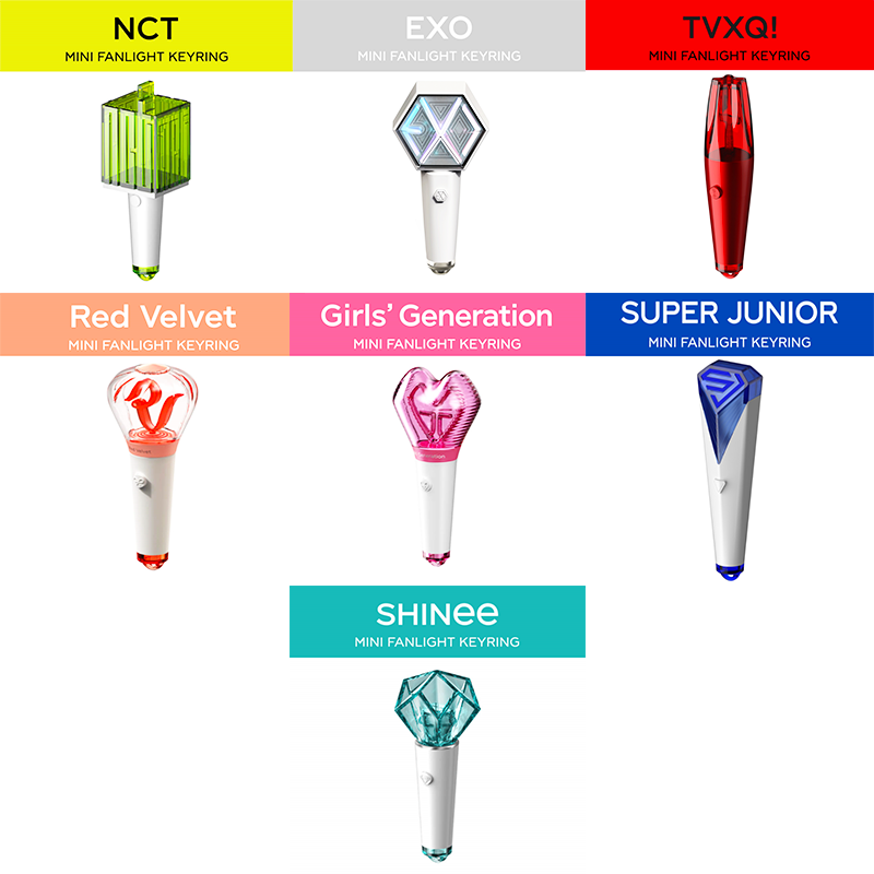 [SMTOWN] Official Mini Lightstick Keyring