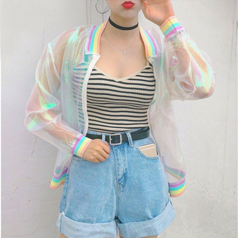 [AsianFashion] ''Hologram'' Bomber Jacket
