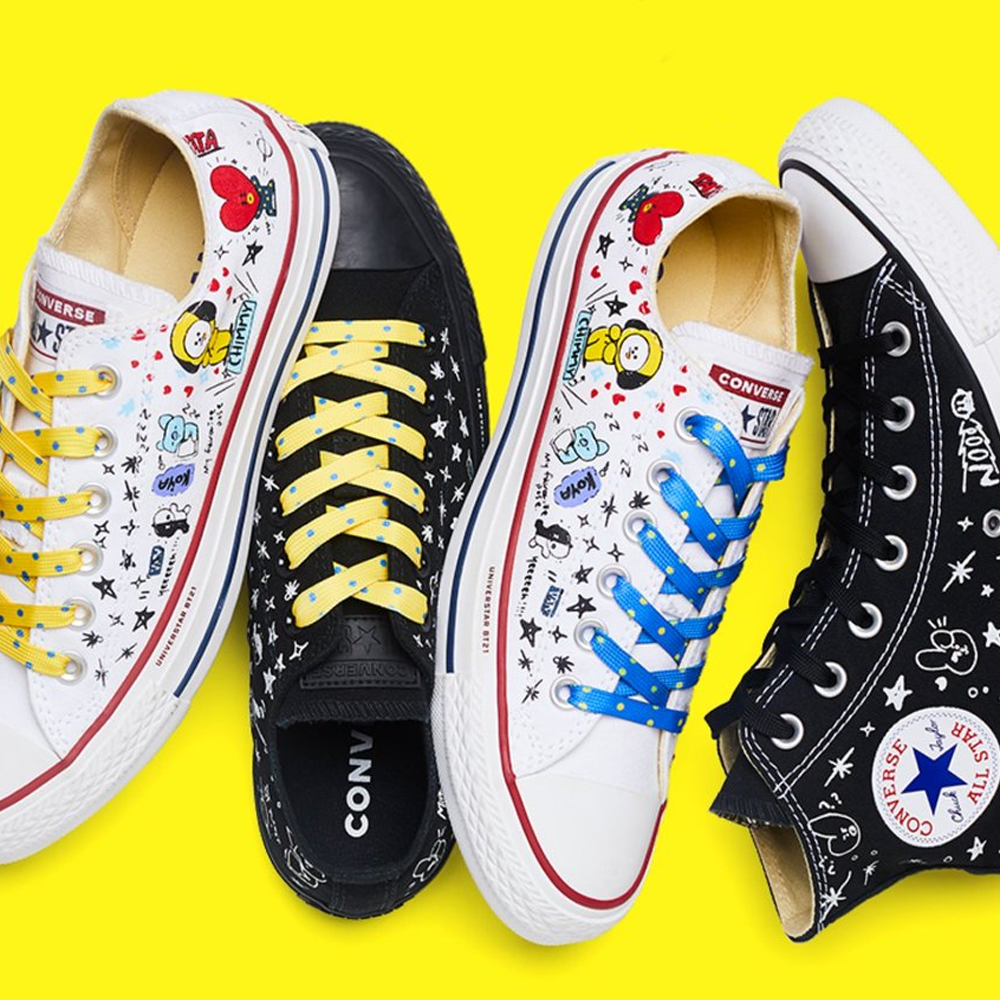 29a8076a42ebbf CONVERSE X BT21  CHUCK TAYLOR ALL STAR SNEAKERS – KpopCloud