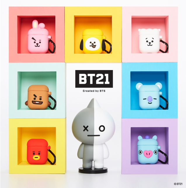 [BT21] Silicone Charging Case For Apple Airpods Cube Version