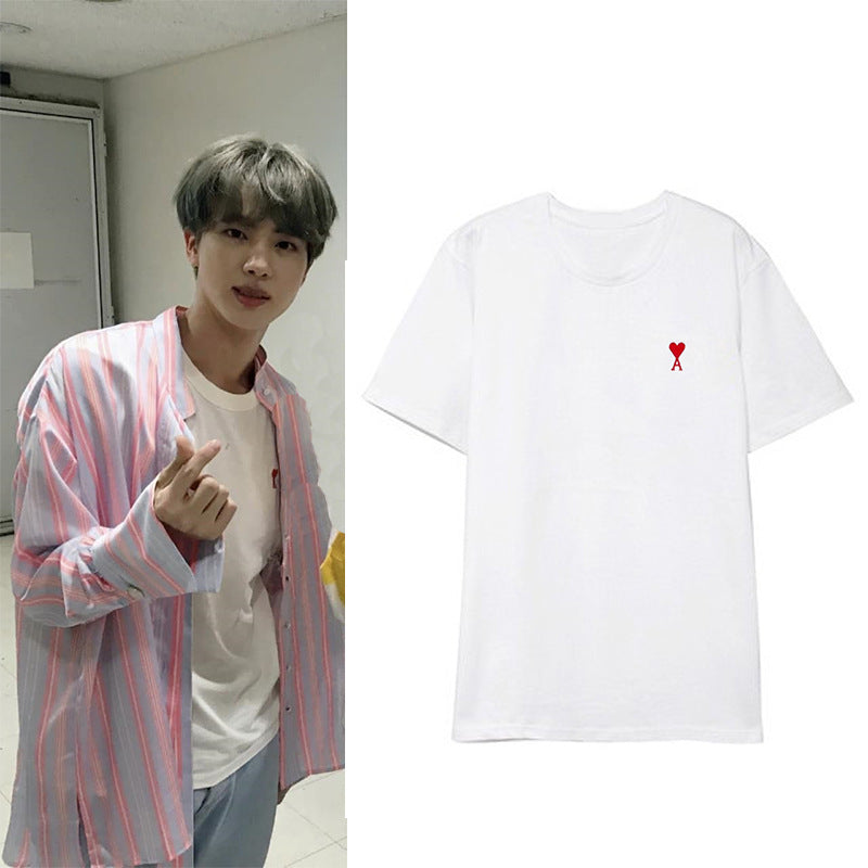 BTS Jin and GOT7 JinYoung ''Ace of Hearts'' Shirt