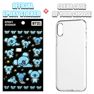 [BT21] Official Epoxy Sticker + Clear Phone Case Of Your Choose