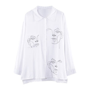 [AsianFashion] Faces shirt