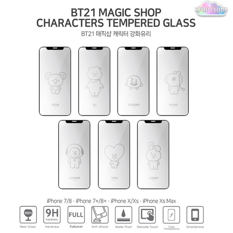 BTS 5TH MUSTER MD MAGIC SHOP BT21 Phone Case Tempered Glass
