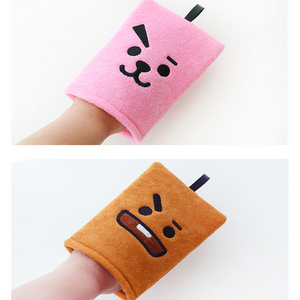 BT21 OFFICIAL SHOWER GLOVE 2P