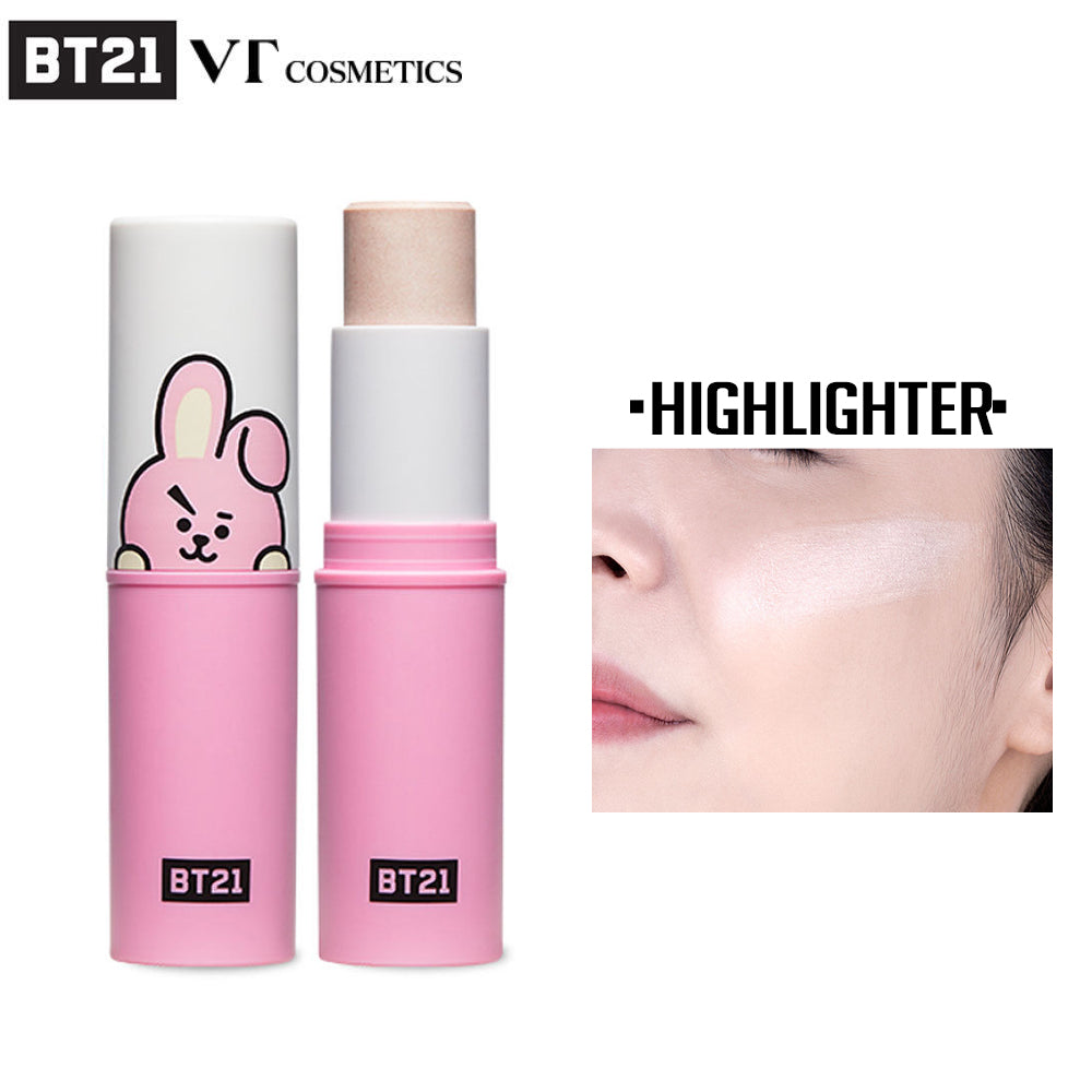 [BT21] Official VT Cosmetics Cooky Fit On Stick Highlighter (9 5g - 0 33oz)