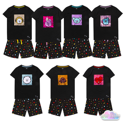 [BT21] Spangle Pajama Set (Reversible Sequin)