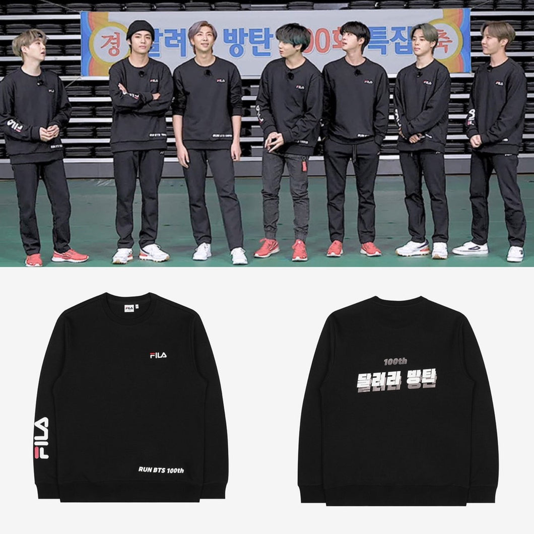BTS OFFICIAL Run BTS 100th FILA Sweatshirt (Free Shipping)