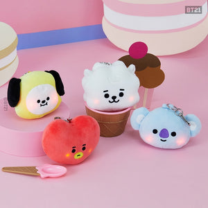 BT21 Baby Lighting Bagcharm Doll Keyring