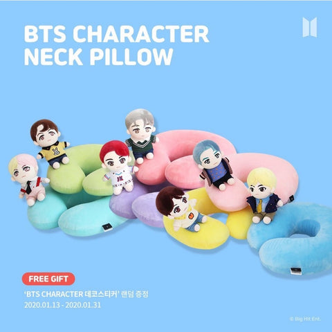 BTS Official Character Neck Pillow