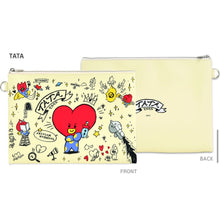 Load image into Gallery viewer, BT21 Official PU FLAT Pouch Doodle Version