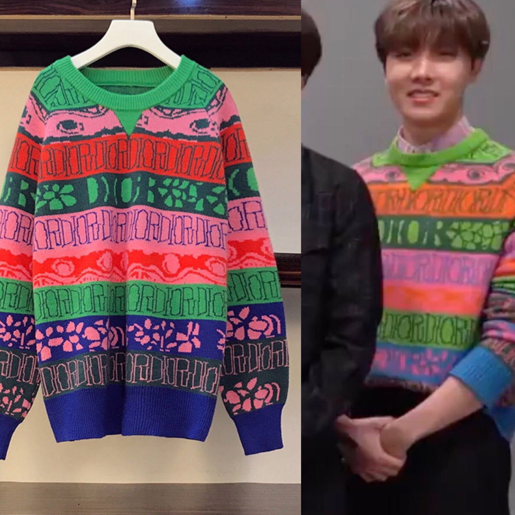 "BTS J-Hope Style ""Colorful"" Sweater"