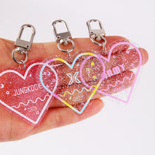 Load image into Gallery viewer, TXT Glitter Acrylic Keyring
