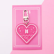 Load image into Gallery viewer, BTS Glitter Acrylic Keyring