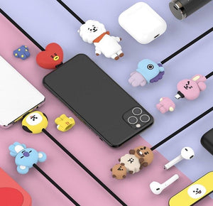 BT21 Official Character Cable 5pin or 8pin or Type-C