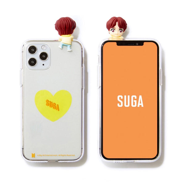 BTS Official CHARACTER Figure Clear Jelly Case Heart Version (iPhone and Samsung)