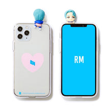 Load image into Gallery viewer, BTS Official CHARACTER Figure Clear Jelly Case Heart Version (iPhone and Samsung)