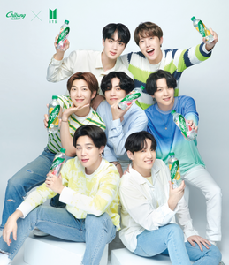BTS x Chilsung Cider - Special Package 4 Bottles + BTS Photocards