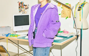 BT21 Official Fleece Hooded Zip-up Jacket