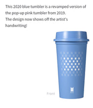Load image into Gallery viewer, BTS Pop Up: Map of the Soul - Official Tumbler Signature Blue