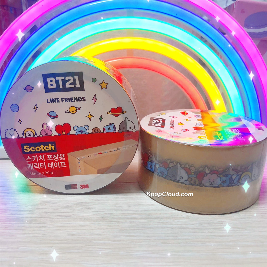 BT21 Official Scotch Clear/Transparent Masking Tape