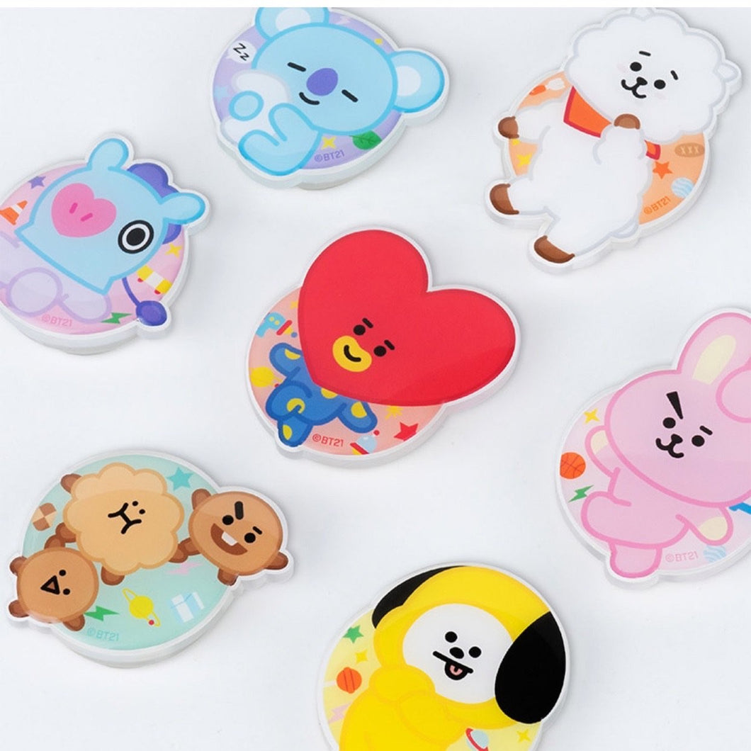 BT21 Official Party Jelly Griptok Holder / Smart Tok / Pop Socket