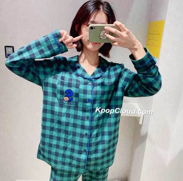 BT21 Official Flannel Check Pajama Set