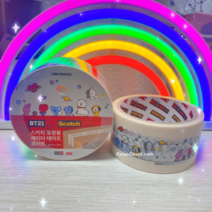 BT21 Official Scotch White Masking Tape