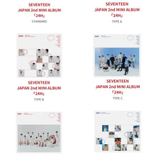 Load image into Gallery viewer, SEVENTEEN - Japanese 2nd Mini Album: 24H (You Can Choose Version)